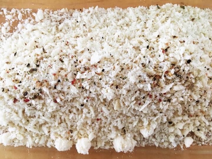 Panko Breadcrumb + Parmesan + S&P +Thyme mixture